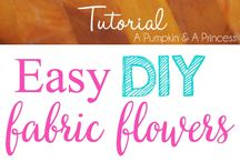 Fabric Flower Tutorial