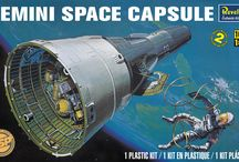 Into Space / Revell Space-related and Star Wars plastic model kits