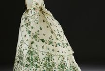 embroidered  victorian gowns