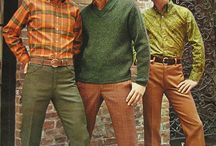 Мужская и женская мода 60е-70е года.