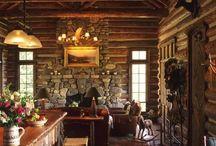 Log cabins and log houses