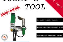 Today's Tool / New day - New Product.  We offer plastic welding equipments, hot air tools, extruders, heaters, blowers, folding and bending tables. We are the solution for plastic fabrication, printing and packaging, pipe construction, roofing, civil engineering, tunneling, waterproofing membranes, process heat, tarpaulins, billboards, flooring and much more.
