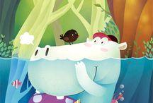 Hippo Children Illustration