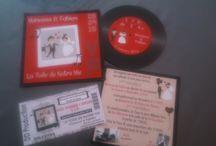 Faire-Part Mariage Thème musique / avec disque vinyle et pochette