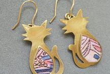 jewellery cat earrings