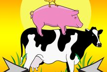 Illustrationen für glückliche Tiere