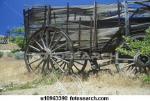 OLD & AGED WAGONS, WATER PUMPS, FEED TROFFS, HITCHING POSTS, ECT.