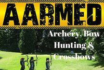 """Archery, Bow Hunting & Crossbows / Archery is the sport, practice or skill of using a bow to propel arrows. Using archery to take game animals is known as """"bow hunting"""". A crossbow is a type of weapon based on the bow and consisting of a horizontal bow-like assembly mounted on a stock. It shoots projectiles called bolts or quarrels."""