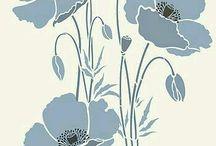 Kwiaty - rysunki i szablony