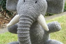 knitted animals and toys