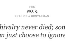 Rules Of A Gentleman / by Vicky S.