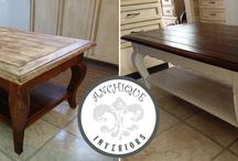 Custom Chique / A selection of custom painted furniture that we have finished for our customers...