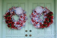 Krikey Kreations / I made this! From wreaths, to decorated glass blocks, to greeting cards... I dabble and make a lot of things.