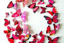 HU Matricák és címkék, 3D színes és a tükör matricák a falon, dekorációk