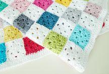Crochet blankets and pillows