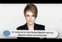 En menos de un mes Denise Maerker sale por segunda ocasión de la televisión