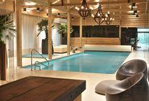 Бассейн в деревянном доме. Pool in a wooden house / Современные средства защиты  позволяют использовать дерево для строительства  бассейнов