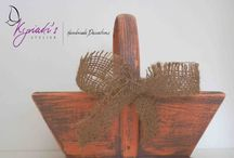Home Decor by Kyriaki's Atelier / Unique items for a special Home Decor Baskets, Signs,