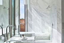 Bathroom marble shower