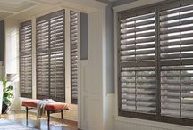 Shutters by Hunter Douglas / Heritance, New Style and Palm Beach shutters all create that beautifully sophisticated look for your windows.