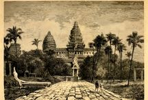 Drawings, paintings and old prints of Buddhist sites