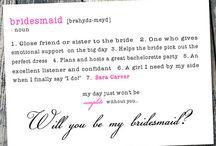 bridesmaid uitnodiging
