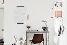WORK SPACE | at home / Inspiring work spaces to look at and steal ideas. Whether you have a tiny corner or a whole room to create a workspace at home, these ideas will inspire you. All with a minimal, Scandi vibe.