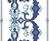 All Blue Cross Stitch / Shades of blue cross stitch patterns / by Pinoy Stitch