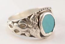 silver antique vintage ring