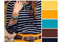 Paleta de cores / Paletas de cores de roupa
