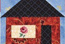 Irish chain and house quilt