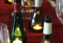 botellas candelabros