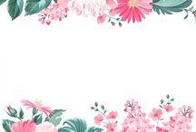 molduras de flores