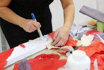 carta materica / Corsi di trattamento della carta con tecnica velo su velo