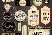Vintage Christmas Designs 2014 / A collection of Vintage Christmas designs for 2014. Vector format.