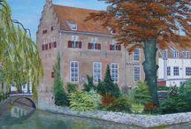 Schilderijen oud Amersfoort / Stadsgezichten van de historische binnenstad van Amersfoort