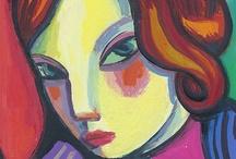 Cuadros de retratos de mujeres Fashion / Galería de pinturas de mujeres pintados por G. Martí Ceballos inspirados en las  revistas de moda/ Gallery of paintings of women painted by G. Martí Ceballos inspired by fashion magazines.