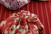 Pliages tissus // Furoshiki / L'art de nouer, plier le tissu pour créer de belles choses!