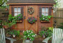 Sheds, little sheds, cute sheds, gardens sheds, fun sheds, love sheds