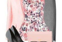 Grey and pink skirt