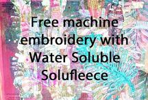 Arts and crafts Water Soluble Solufleece Free machine embroidery