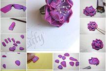 Modelado de flores. / by Jessica Cerda ( Tortas Finas Chile )