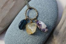 Stone and crystal jewelry