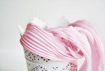 Shibori ribbon silk