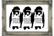 Banksy Wall Art / Take a look at our Banksy Wall Art pins. We sell  4 different types, Canvas Art, Wall Stickers, Wall Murals and Art Posters.  See a larger selection at http://www.wallart-direct.co.uk for more Banksy Wall Art .