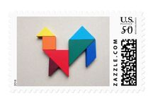 Products with my pieces of the Tangram in zazzle.com / Here you can choose various gifts with my Tangram pieces to every important event.