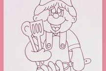 cuochi e cucina disegni