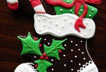 santa boots cookies