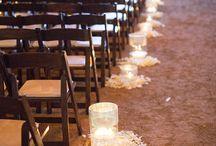 wedding asile decoration