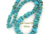 Turquoise Beads / American Turquoise | Kingman Turquoise | Designer Jewelry Supplies / by Four Corners USA OnLine